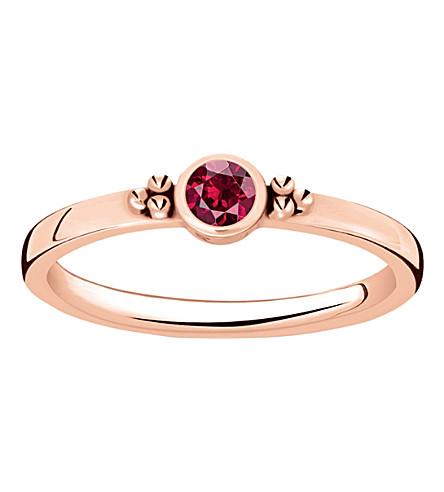 THOMAS SABO 皇家18ct 玫瑰镀金戒指