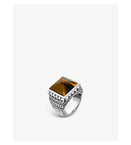 THOMAS SABO Rebel at heart mini skulls signet ring