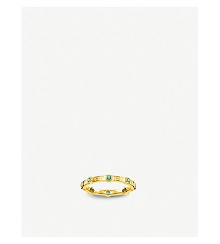 THOMAS SABO Tropical green stone ring band