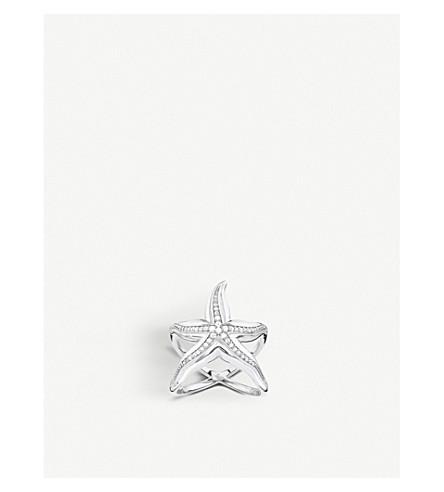 THOMAS SABO Starfish sterling silver and zirconia ring