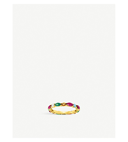 THOMAS SABO Riviera 18ct yellow-gold and coloured stone infinity ring