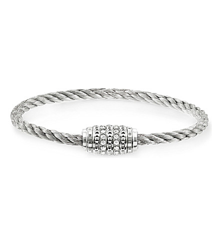 THOMAS SABO Rebel at Heart sterling silver and zirconia-pavé bracelet