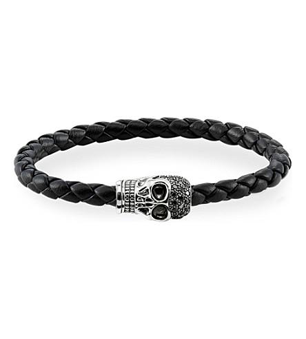 THOMAS SABO Black zirconia skull unity bracelet