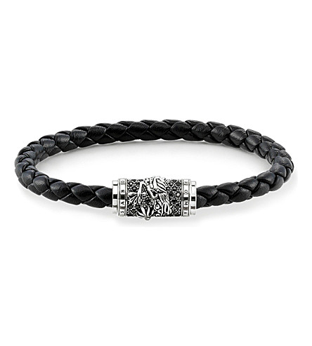 THOMAS SABO Unity plaited leather dragon bracelet