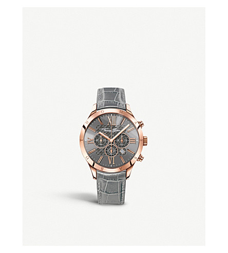 THOMAS SABO Rebel heart grey and rose chronograph watch