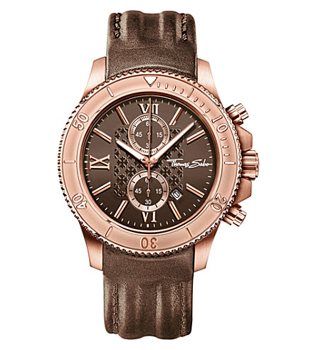 THOMAS SABO Rebel at Heart brown chronograph watch