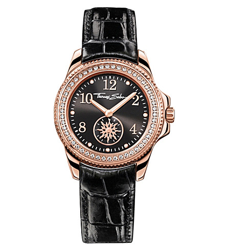 THOMAS SABO Glam and Soul black and rose three-hand watch