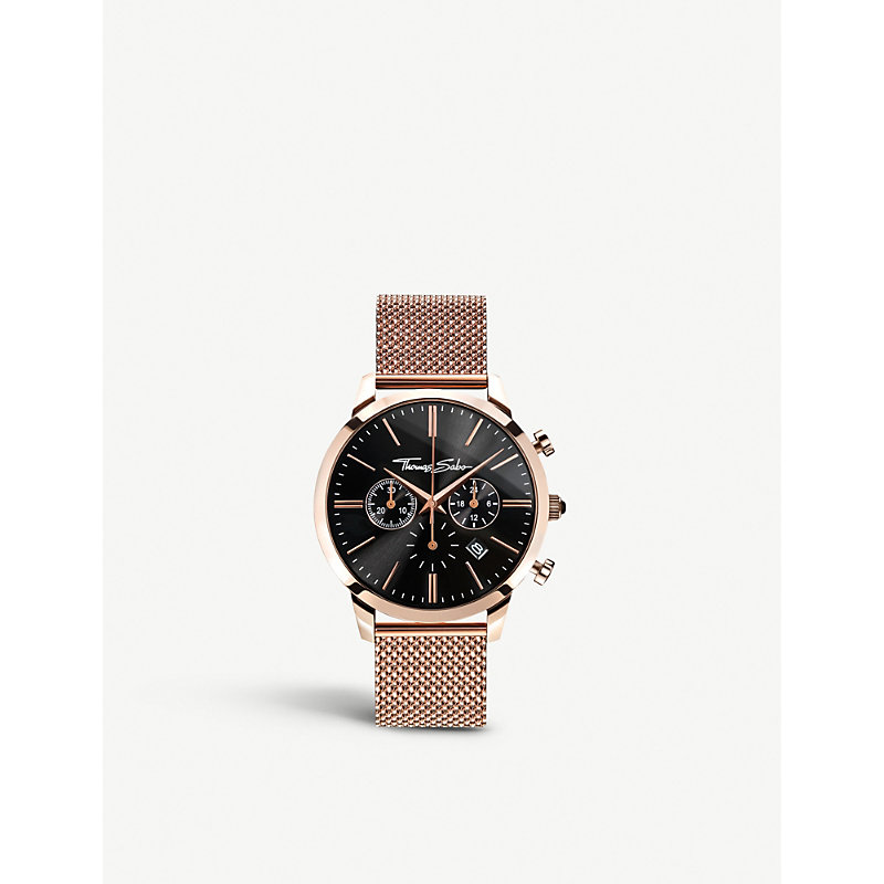 THOMAS SABO | Rebel At Heart Rose Gold-Toned Stainless Steel Watch | Goxip
