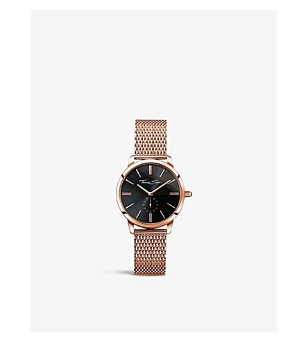 THOMAS SABO 华丽的灵魂玫瑰金色色调的不锈钢腕表