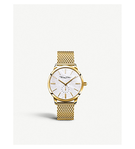 THOMAS SABO WA0302-264-213 Glam Spirit yellow gold and stainless steel watch