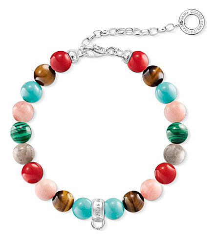 THOMAS SABO Charm Club multi-stone charm bracelet