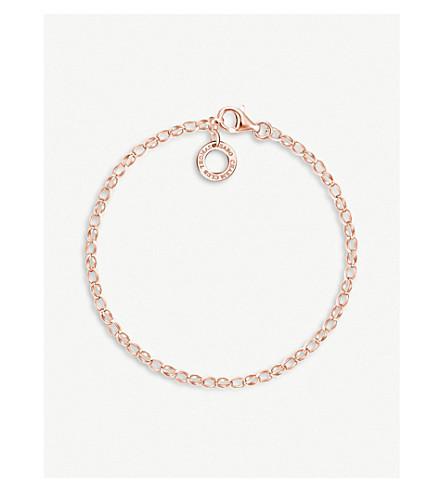 THOMAS SABO 18ct rose-gold plated charm bracelet