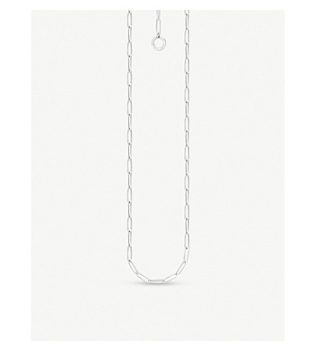 THOMAS SABO Paper Clip chain sterling silver charm necklace