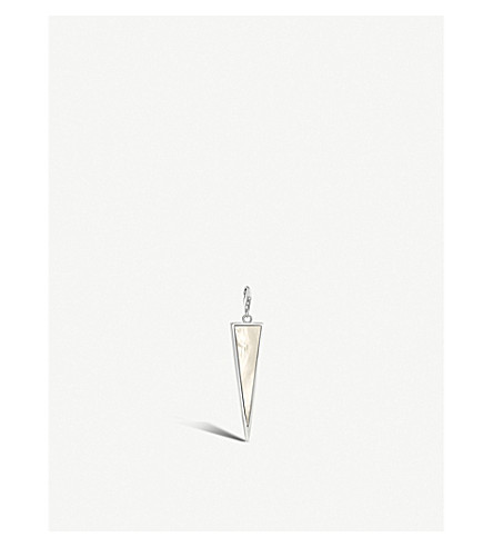 THOMAS SABO Triangle sterling silver and mother-of-pearl charm