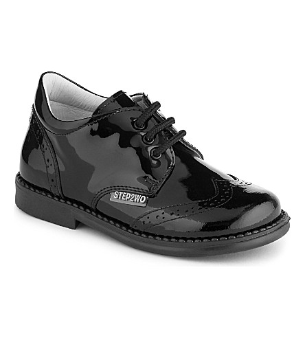 STEP2WO Lord patent-leather brogues 1-7 years (Black+patent