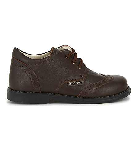 STEP2WO Lord leather shoes 4-12 years (Brown+leather