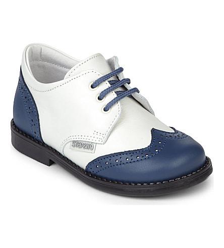 STEP2WO 鞋吧勋爵 1-7 岁(海军 + 皮革