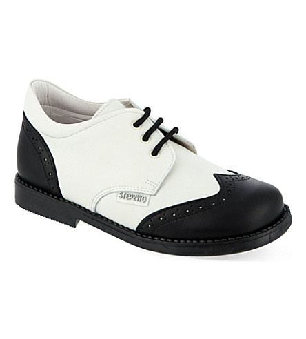 STEP2WO Lord leather brogues (Blk+white+lthr