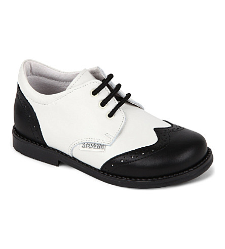 STEP2WO Lord shoes 1-7 years (Blk white lthr