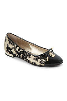 STEP2WO Leopard print velvet lace pumps 7 years