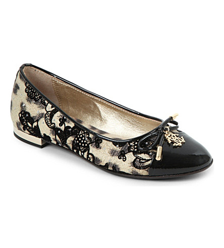 STEP2WO Leopard print velvet lace pumps 7 years (Black+leather