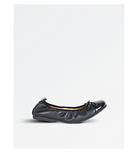 STEP2WO Lorena leather ballet flats 6-10 years (Black+leather