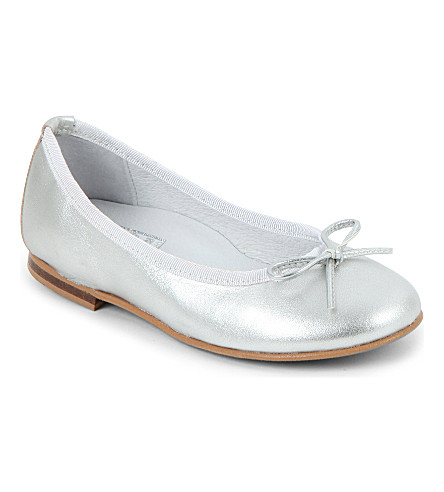 STEP2WO Metallic ballet pumps 6-7 years (Silver+leather