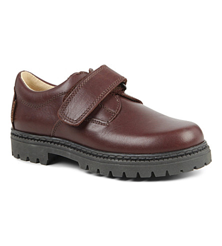STEP2WO Sir leather school shoes 4-12 years (Brown+leather