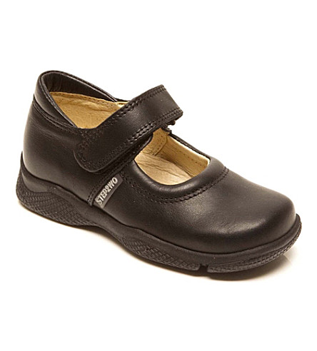 STEP2WO Jodie school shoes (Black+leather