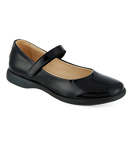 STEP2WO 安妮学校鞋 (黑 + 专利