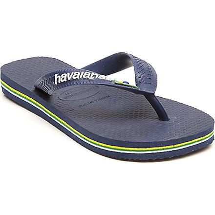 HAVAIANAS Brasil logo flip flops 6-12 years (Navy