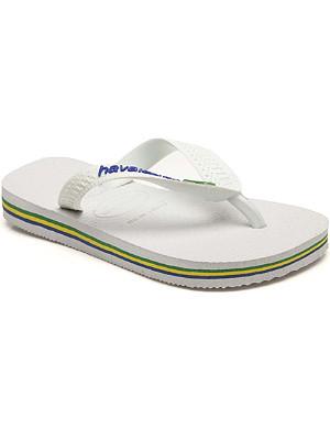 HAVAIANAS Brasil logo flip flops 6-12 years