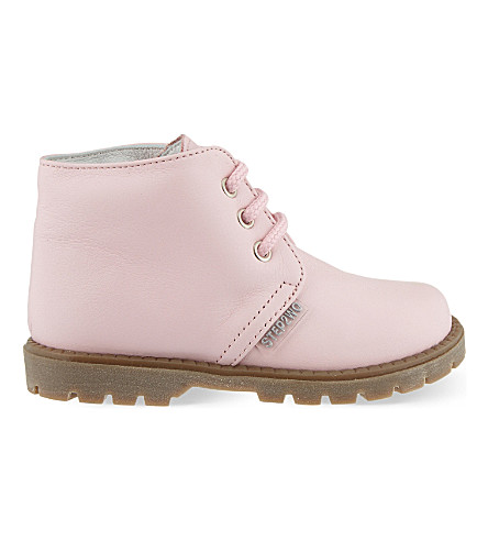 STEP2WO Mini Johnson leather boots 6 months-4 years (Pink+leather