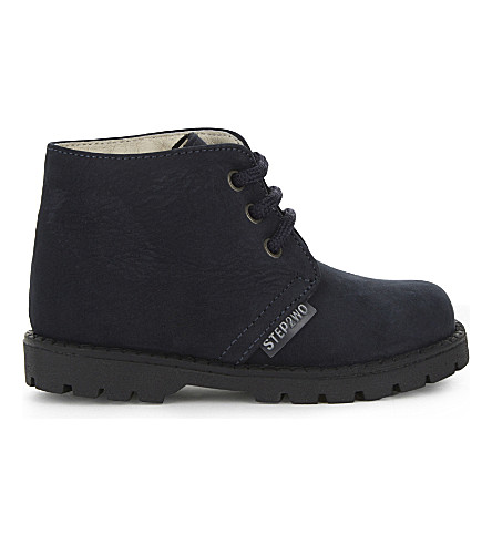 STEP2WO Johnson nubuck booties 6 months-5 years (Navy+nubuck