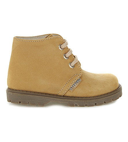 STEP2WO Johnson nubuck booties 6 months-5 years (Yellow+nubuck