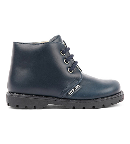 STEP2WO Mini Johnson boots 6 months-4 years (Navy+leather