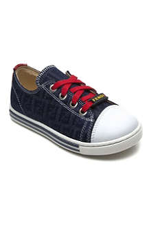FENDI Denim lace-up trainers 9-12 years