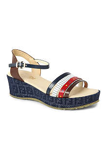 FENDI Denim wedge sandals 7-9 years