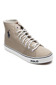 RALPH LAUREN Canvas high-top trainers 9-12 years