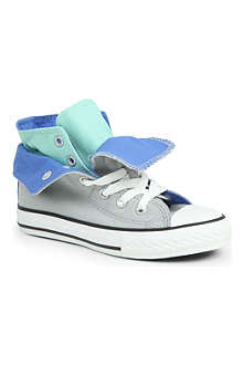 CONVERSE Contrast fold-over high-top trainers 6-11 years