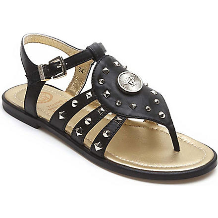VERSACE Studded gladiator sandals 7-10 years (Black