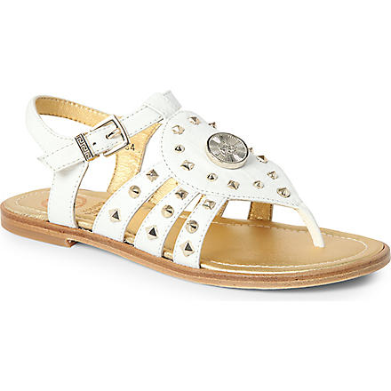 VERSACE Studded gladiator sandals 7-10 years (White