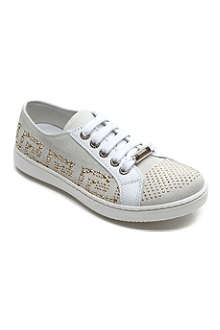 VERSACE Studded suede trainers 7-12 years