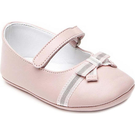 GUCCI Pram shoes with bow detail 6 months (Pink
