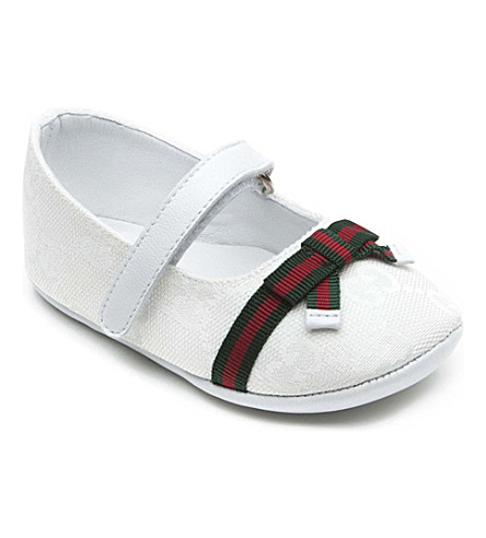 GUCCI Pram shoes with bow detail 6 months (White