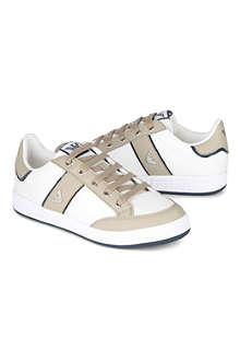 ARMANI JUNIOR Leather two-tone trainers 9-12 years