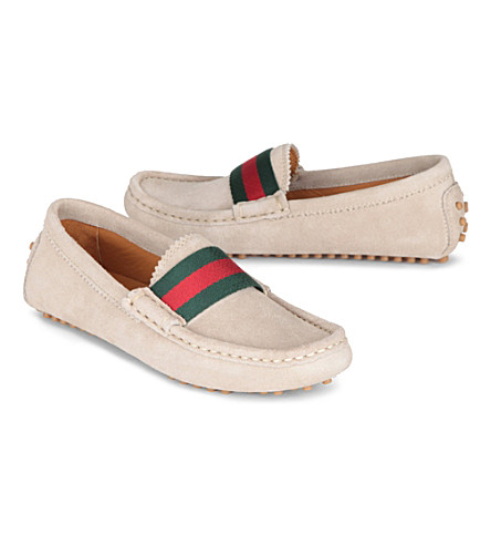GUCCI Suede leather loafers 6-8 years (Beige