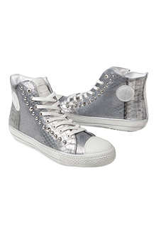 HIP SHOES Snake-effect high-top trainers 7-11 years