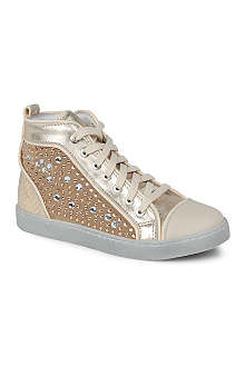 HIP SHOES Embellished high-top trainers 7-11 years