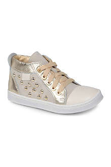 HIP SHOES Studded high-top trainers 2-5 years